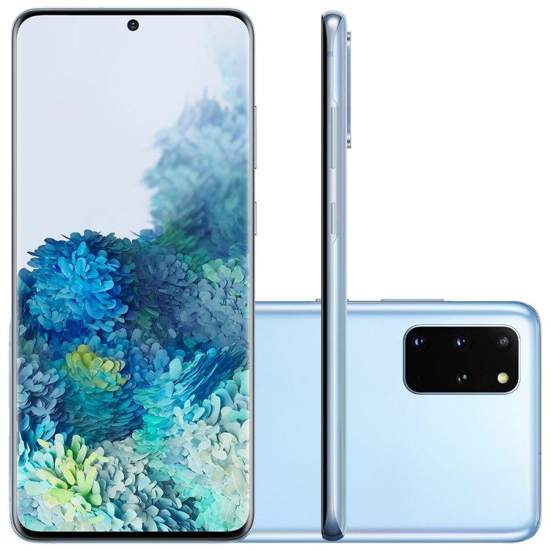 Smartphone Samsung Galaxy S20 Plus 128GB Dual Chip 8GB RAM 4G Tela Infinita de 6.7 Cloud Blue