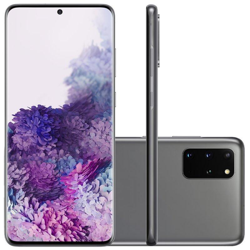 Smartphone Samsung Galaxy S20 Plus 128GB Dual Chip 8GB RAM 4G Tela Infinita de 6.7 Cosmic Gray