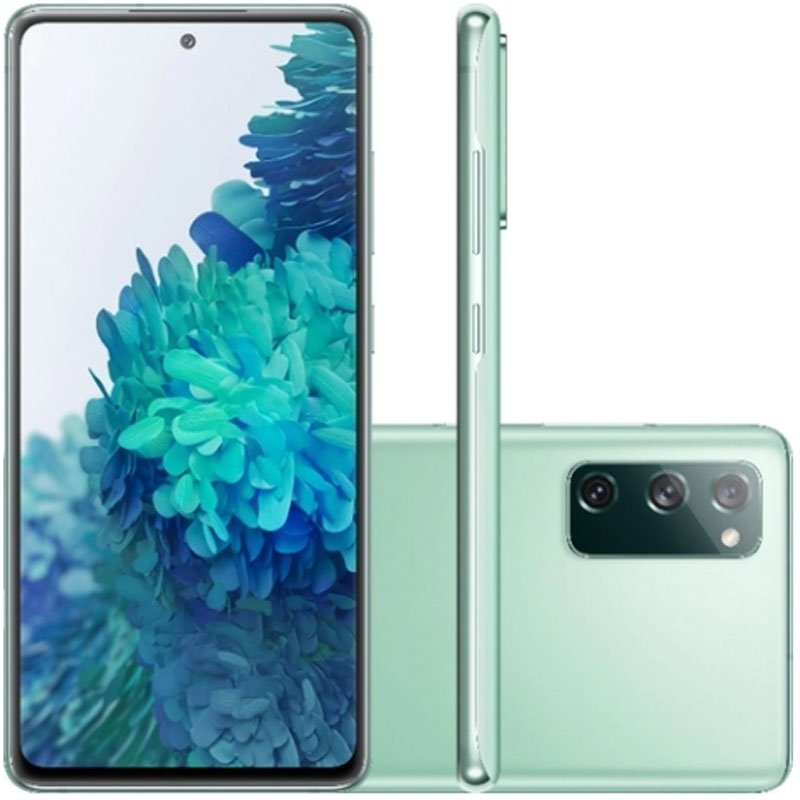 Smartphone Samsung Galaxy S20 Fe 128GB 4G Tela 6.5 Dual Chip 6GB RAM Câmera Tripla Cloud Mint