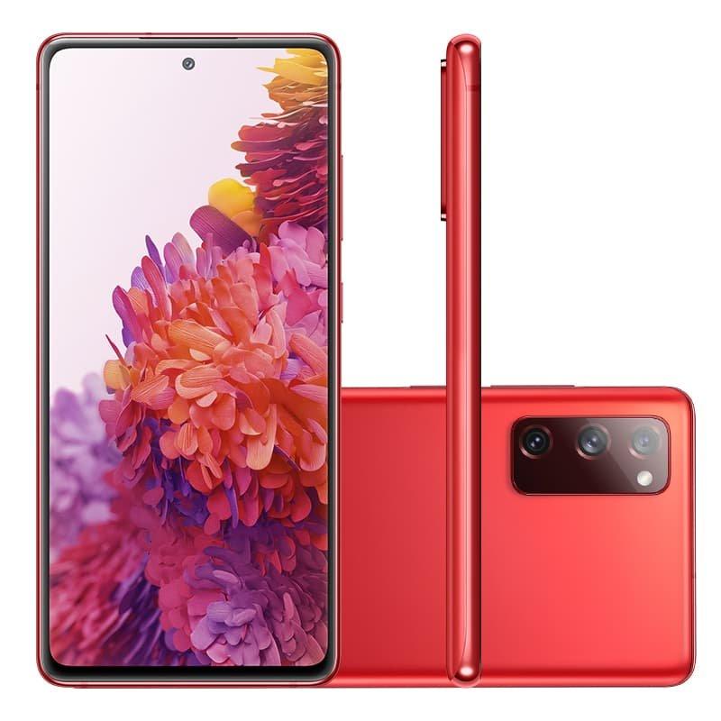 Smartphone Samsung Galaxy S20 FE 128GB 6GB RAM Tela 6.5 Camera Tripla cor Cloud Red