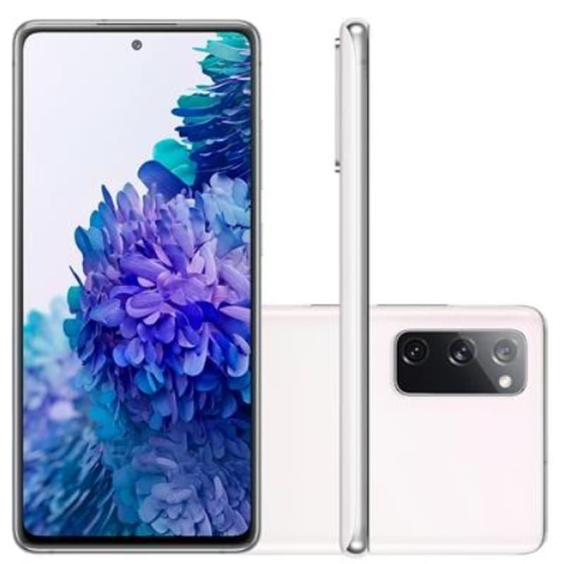 Smartphone Samsung Galaxy S20 FE 128GB 6GB RAM Tela 6.5 Câmera Tripla cor Cloud White