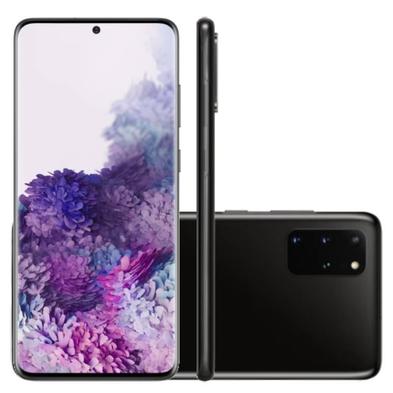 Smartphone Samsung Galaxy S20 Plus 128GB Dual Chip 8GB RAM 4G Tela Infinita de 6.7 Cosmic Black