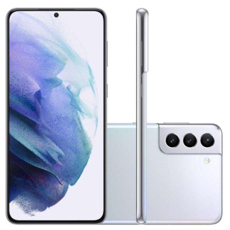 Smartphone Samsung Galaxy S21 Plus Tela Infinita de 6.7 256GB 8GB RAM Câmera Tripla Traseira Prata