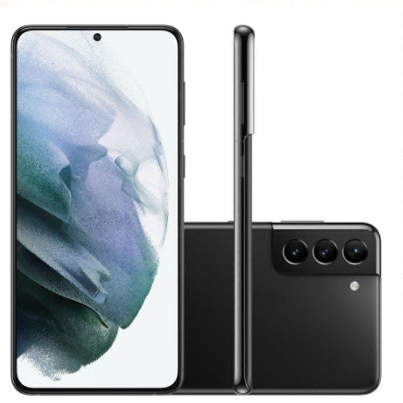 Smartphone Samsung Galaxy S21 Plus Tela Infinita de 6.7 256GB 8GB RAM Câmera Tripla Traseira Preto