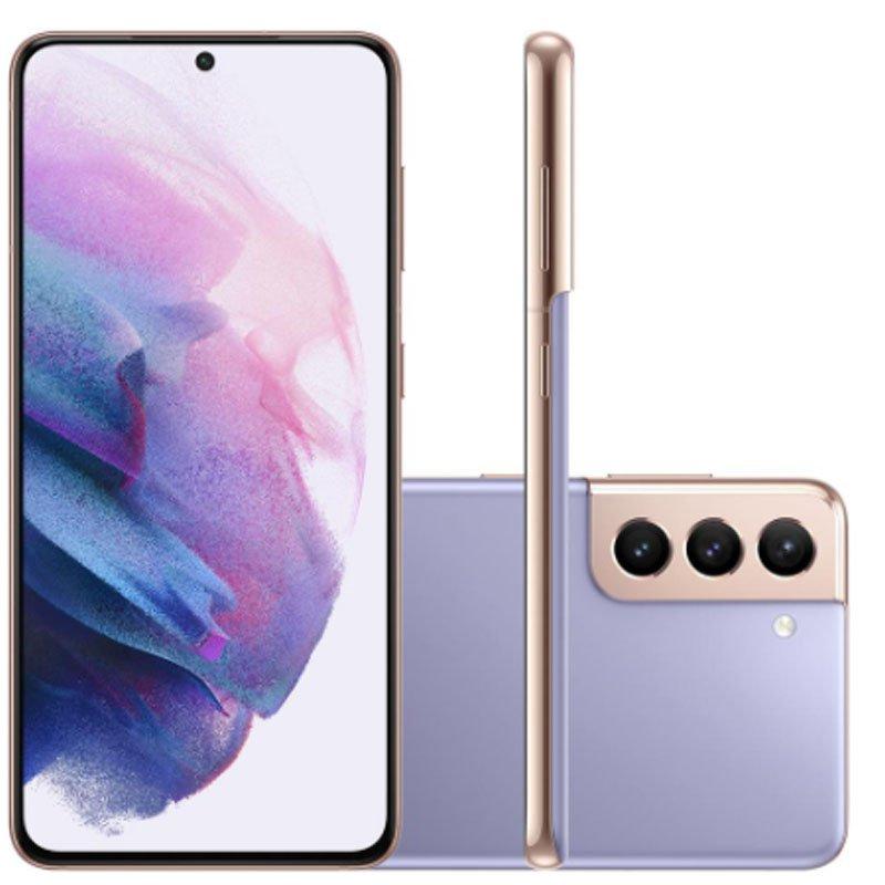 Smartphone Samsung Galaxy S21 Plus Tela Infinita de 6.7 256GB 8GB RAM Câmera Tripla Violeta