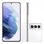 Smartphone Samsung Galaxy S21 Tela Infinita de 6.2 128GB 8GB RAM Câmera Tripla Traseira Branco