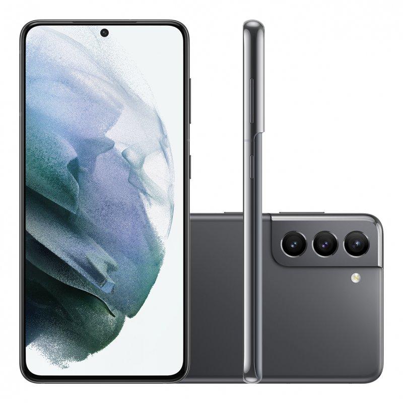 Smartphone Samsung Galaxy S21 Tela Infinita de 6.2 128GB 8GB RAM Câmera Tripla Traseira Cinza