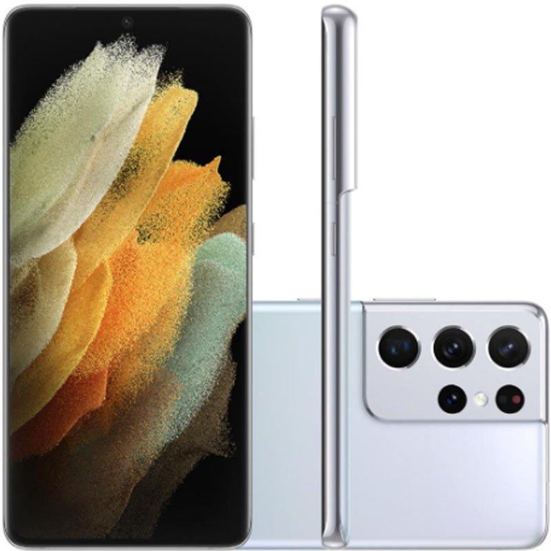 Smartphone Samsung Galaxy S21 Ultra Tela Infinita de 6.8 256GB 12GB RAM Câmera Tripla Prata