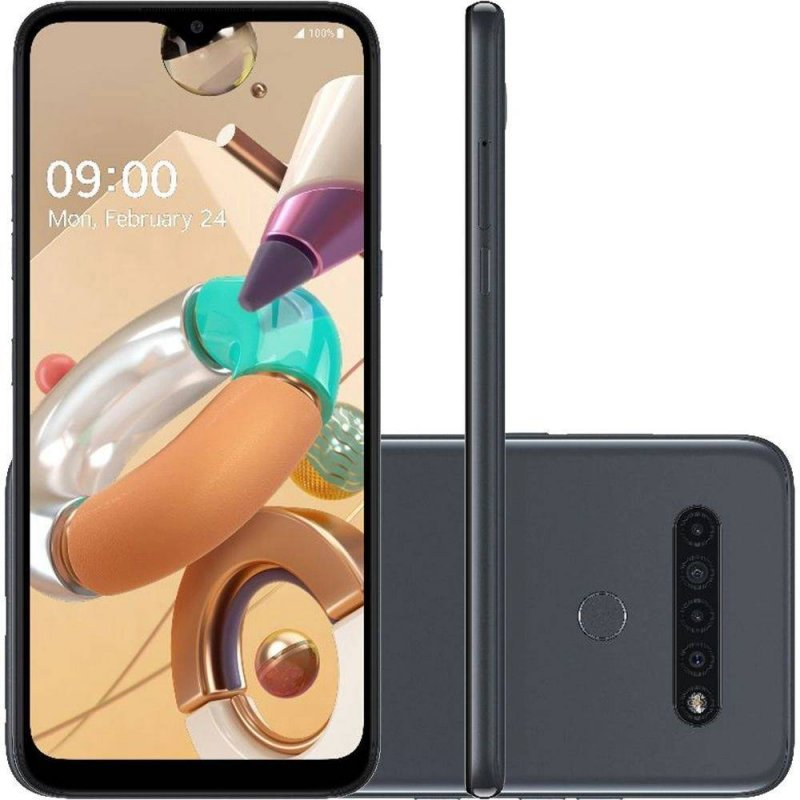 Smartphone LG K41S 6.55 Dual Chip Android 9.0 Pie Octa Core 3GB RAM 32GB Câmera 13MP Titânio