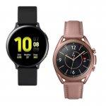 Galaxy Watch Active2 LTE 44mm Smartwatch Preto e Samsung Galaxy Watch 3 41mm LTE Bronze