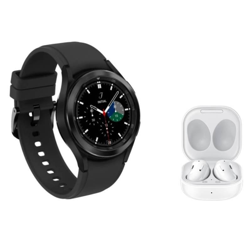 Galaxy Watch4 Classic BT 42mm Preto e Buds Live Intra-Auricular Branco