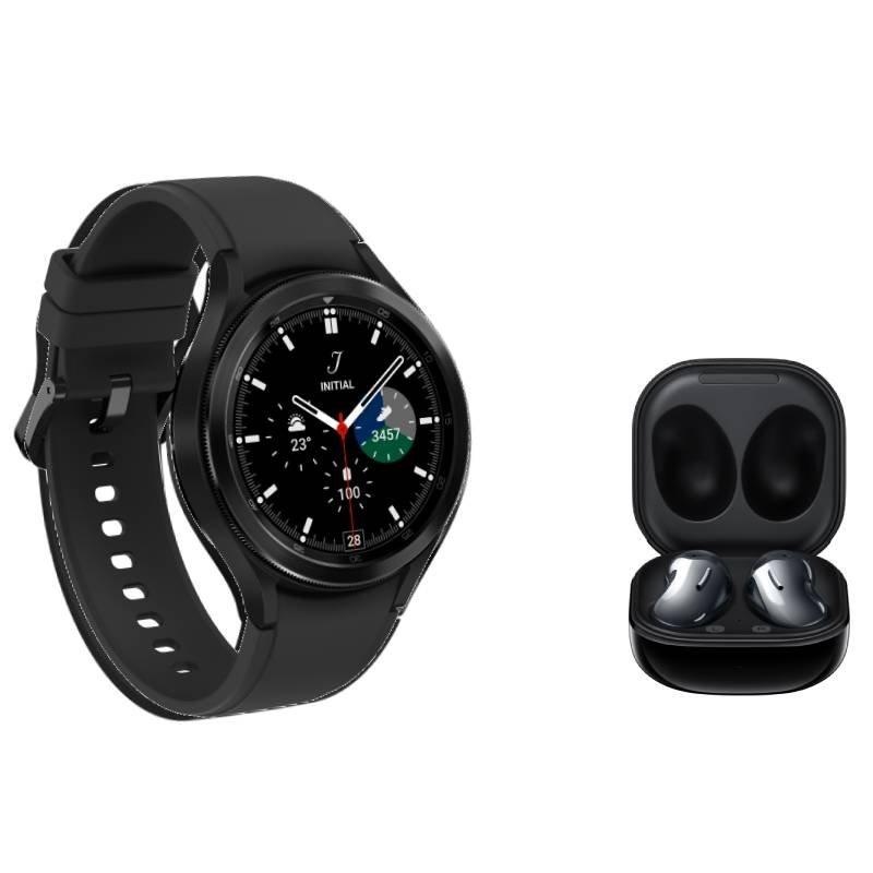 Galaxy Watch4 Classic BT 42mm Preto e Buds Live Intra-Auricular Preto
