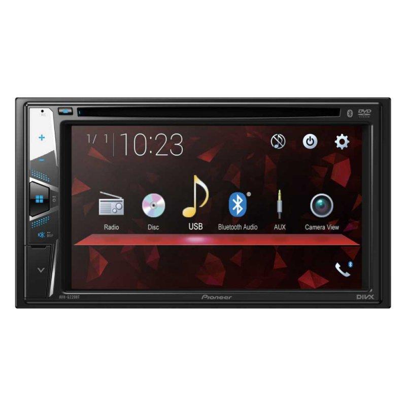 DVD Player Automotivo Pioneer 6,2  AVH-G228BT Leitor CD Bluetooth USB FM AUX Entrada Câmera de Ré