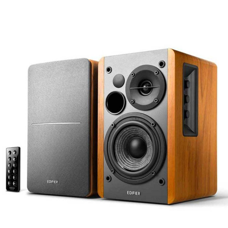 Monitor de Áudio Edifier R1280DB Bluetooth 42W RMS Bivolt Madeira