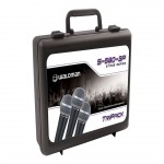 Pack Waldman com 3 Microfones Dinâmicos Cardióides Case Cachimbos S 580 3P