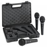 Kit de Microfones Behringer com 3 unidades XM1800S Preto