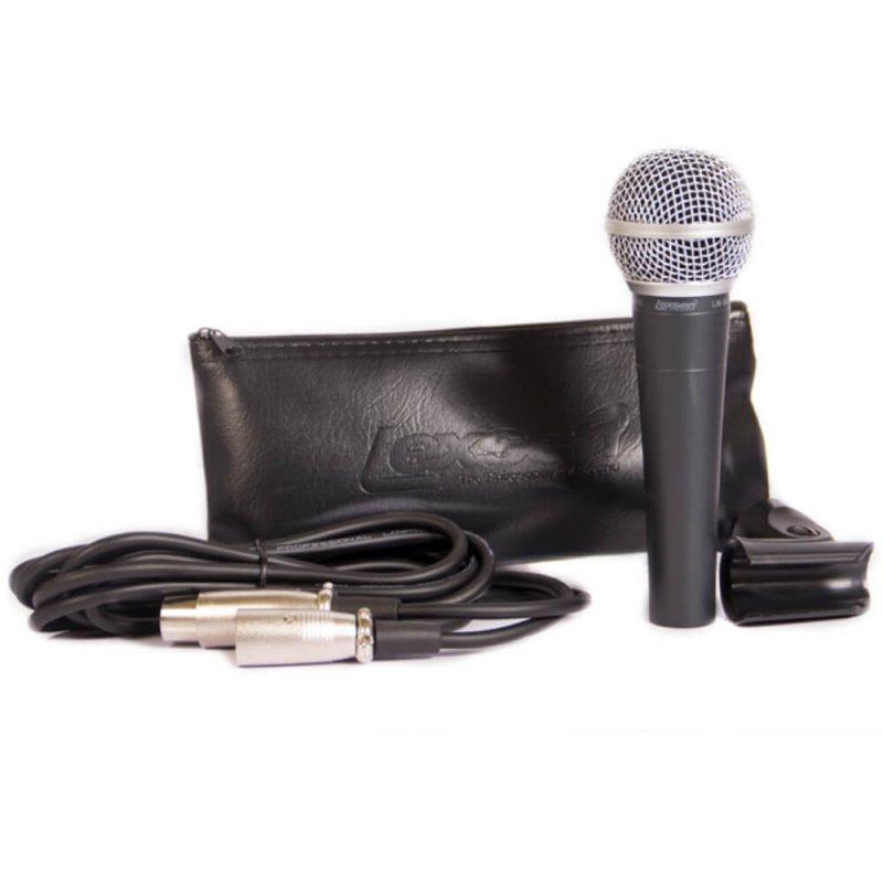 Microfone Lexsen LM-58 Unidirecional Cardioide Dinâmico com Fio