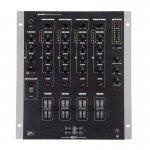 Mixer DJ Gemini PS 828X de 4 Canais XLR Balanceada CrossFader e Rail Glide Preto