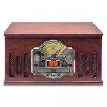 Toca Discos CTX Scala Madeira Bivolt 10 Watts Entrada USB Radio FM CD Player e Gravação