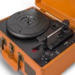 Toca Discos Raveo Sonetto Caramelo Bivolt 10 Watts com Conexão Bluetooth Entrada USB e Gravação