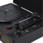 Toca Discos Raveo Sonetto Preto Bivolt 10 Watts com Conexão Bluetooth Entrada USB e Gravação