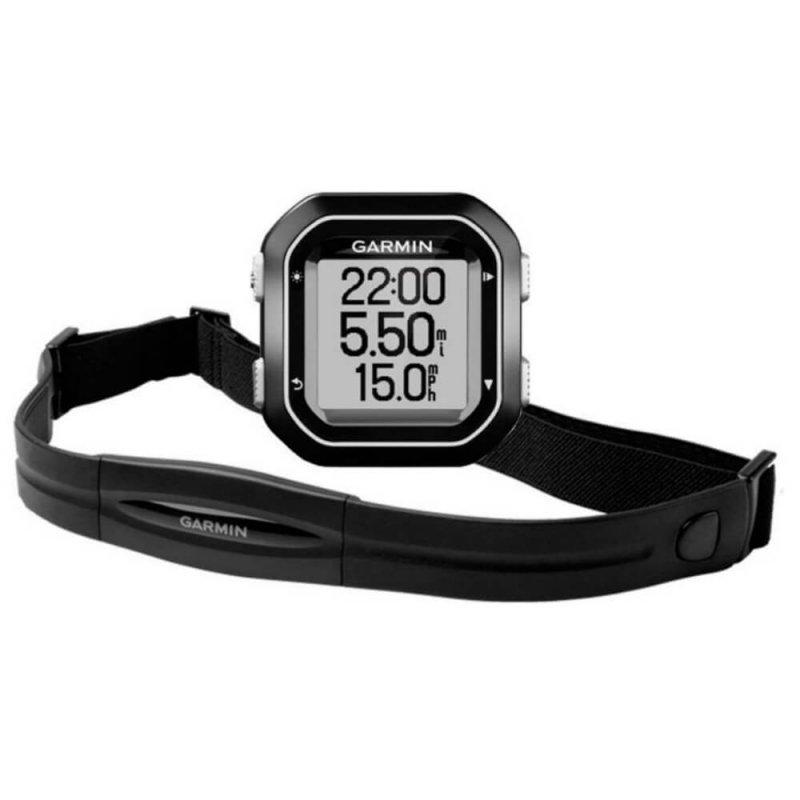 Ciclocomputador Edge 25 Com Cinta HRM Bundle Garmin GPS Auto Lap Compacto Bluetooth Cinza