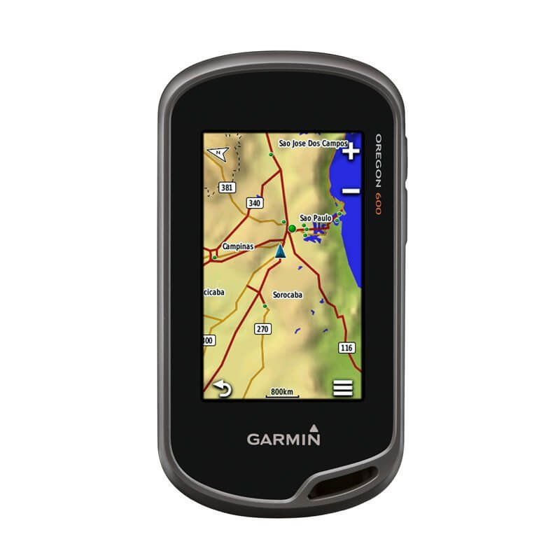 GPS Esportivo Garmin Oregon 600 Preto com Tela de 3 Touch Screen Bluetooth e Tecnologia ANT