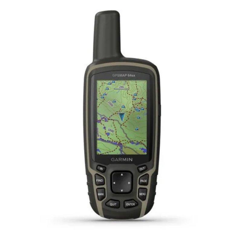 GPS Esportivo Portátil Garmin GPSMAP 64sx Cinza 8GB Tela 2,6 Bluetooth com Antena Helix Quádrupla