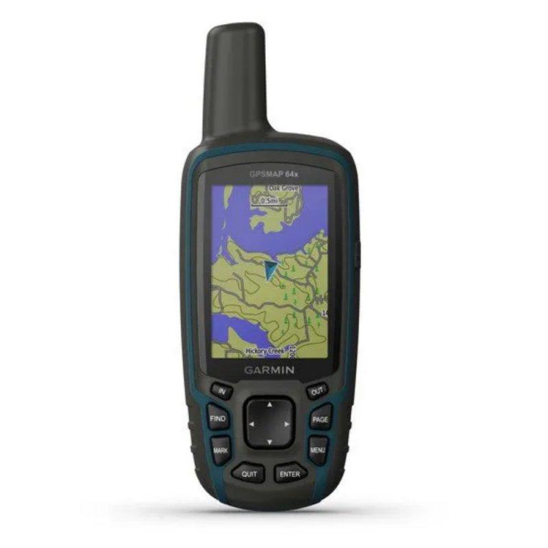GPS Esportivo Portátil Garmin GPSMAP 64x Azul com Tela de 2,6 e Memória Interna 8GB