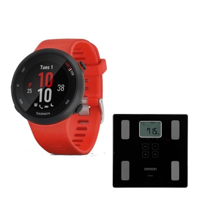Combo Relógio Garmin Forerunner 45 Vermelho com GPS e Balança Digital Omron