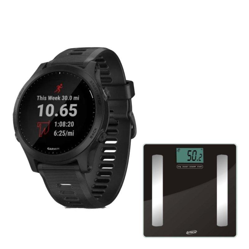 Combo Relógio Garmin Forerunner 945 Preto com GPS e Balança Digital Pro G-Tech