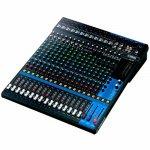 Mesa de Som Analógica Yamaha MG20 Preta com 20 Canais Pré-Amplificador D-PRE 16 Entradas Microfone