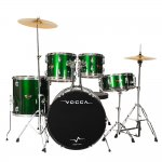 Compare Bateria Acústica Vogga Talent VPD924 GR Verde Metálico Bumbo 22