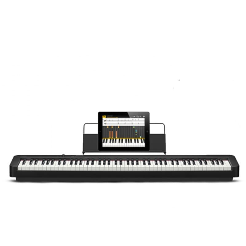 Piano digital Casio CDP S90 com 88 teclas acabamento em resina fosca conexão USB to host tipo B