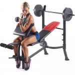 Banco de Musculação Weider Pro 265 OTS Até 120 Kg com 04 Anilhas de Peso