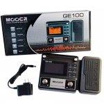 Pedaleira Moeer GE100 Multi-Efeitos para Guitarra Display LCD 8 módulos de efeito Preto