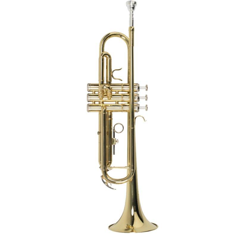 Trompete Vogga VSTR701N Afinação em Si Bemol Laqueado Dourado Com Case