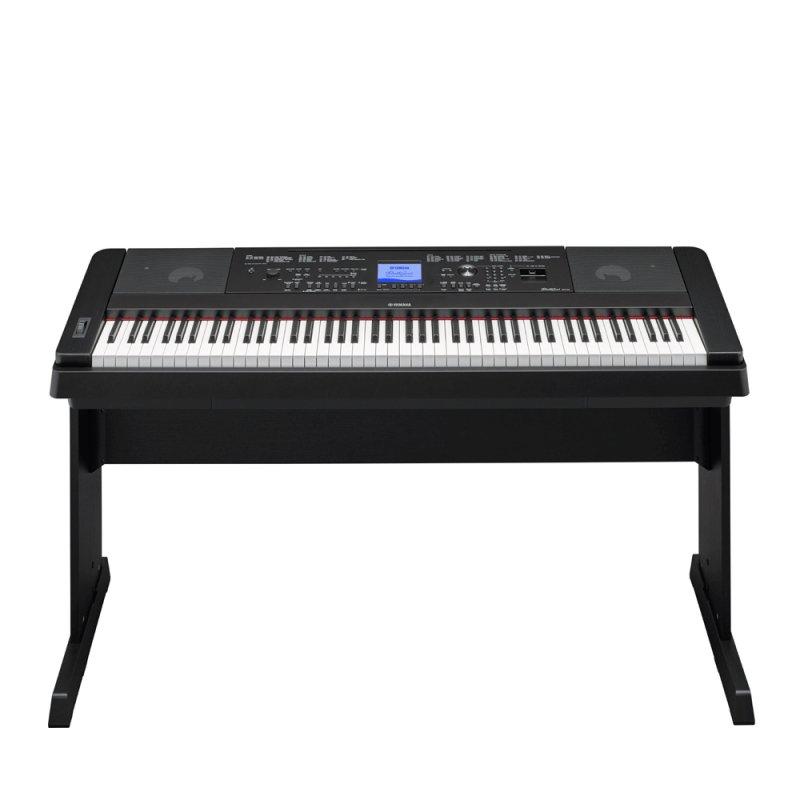 Piano Digital Yamaha DGX-660B Preto 88 Teclas com Estante 192 Notas de Polifonia e 205 Ritmos
