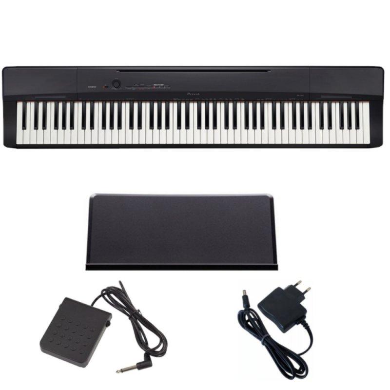 Piano Digital Casio Privia PX-160BK com 88 Teclas com Porta Partitura e Pedal SP-3