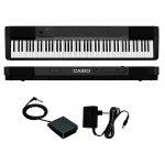 Piano Digital Portátil Casio CDP-135BK MIDI 88 Teclas e Polifonia 64 Notas Preto com Fonte e Pedal