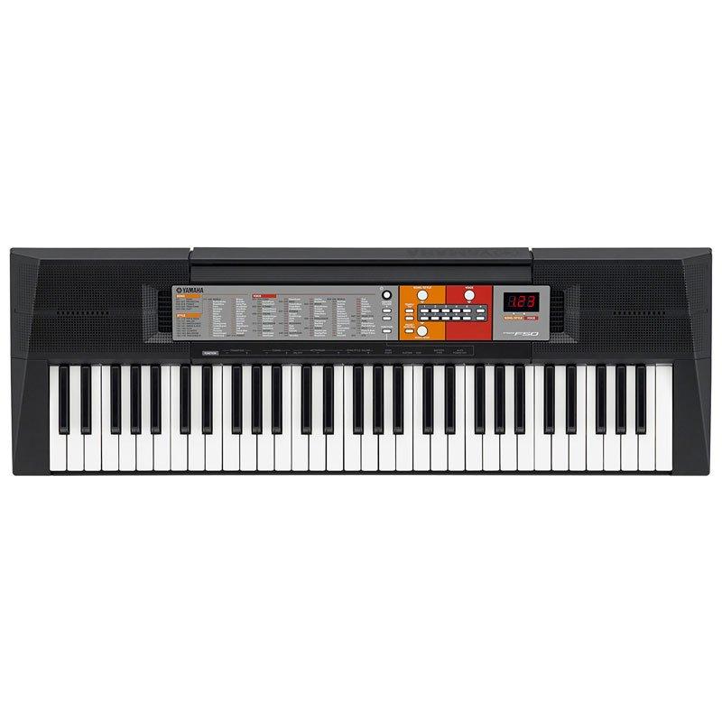 teclado arranjador yamaha psr f50 preto com 61 teclas e. Black Bedroom Furniture Sets. Home Design Ideas