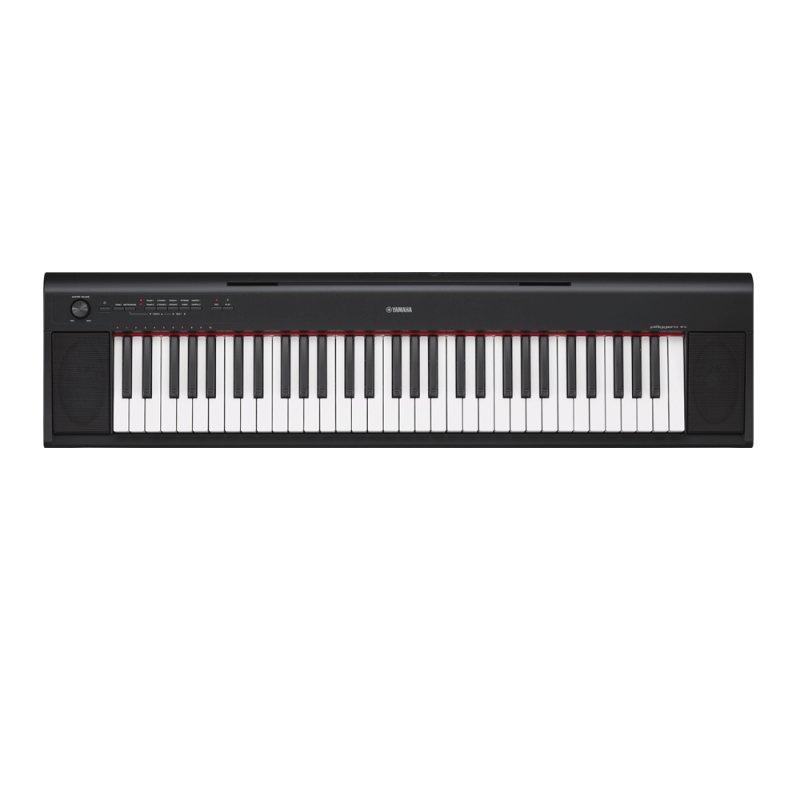 Piano Digital Yamaha NP-12B Piaggero Preto com USB 61 Teclas Sensitivas e 64 Notas de Polifonia