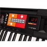 Teclado Yamaha PSR-F51 com 61 Teclas. 120 Timbres e 114 ritmos