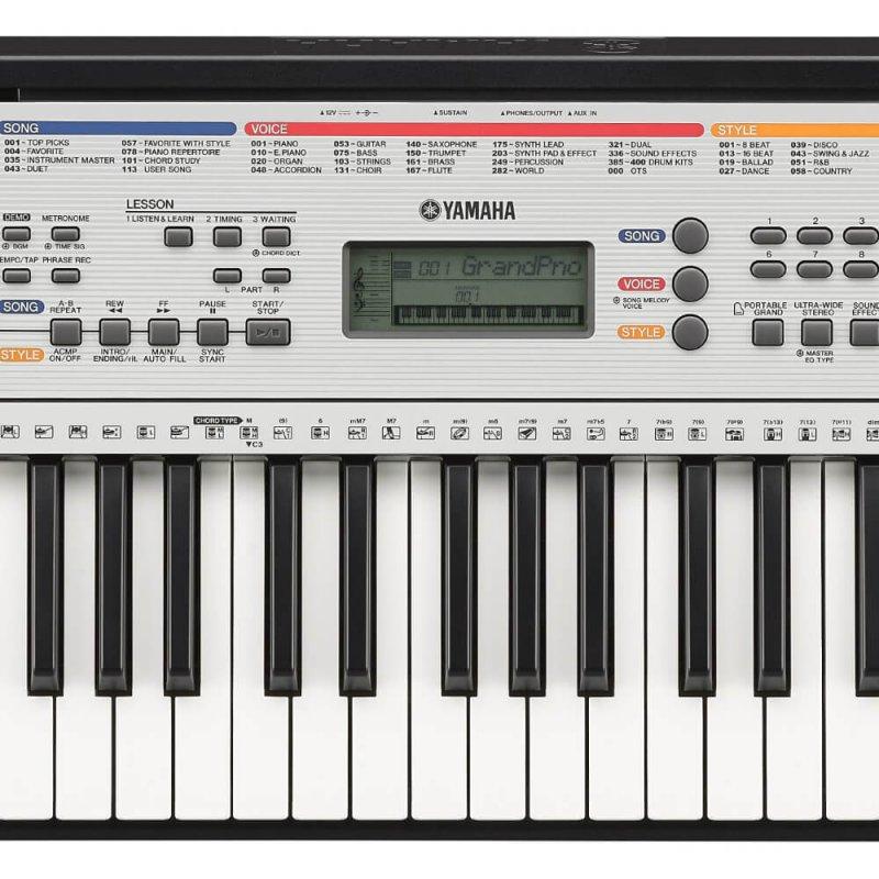 teclado musical yamaha ypt 260 com 61 teclas e 400 timbres. Black Bedroom Furniture Sets. Home Design Ideas