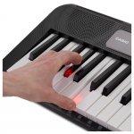 Teclado Musical Casiotone LK-S250 Casio Preto 61 Teclas Bivolt e Suporte Partituras