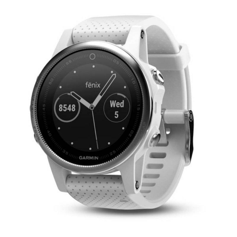 Relógio Multiesportivo Garmin Fenix 5S Carrara Branco com Monitor Cardíaco no Pulso