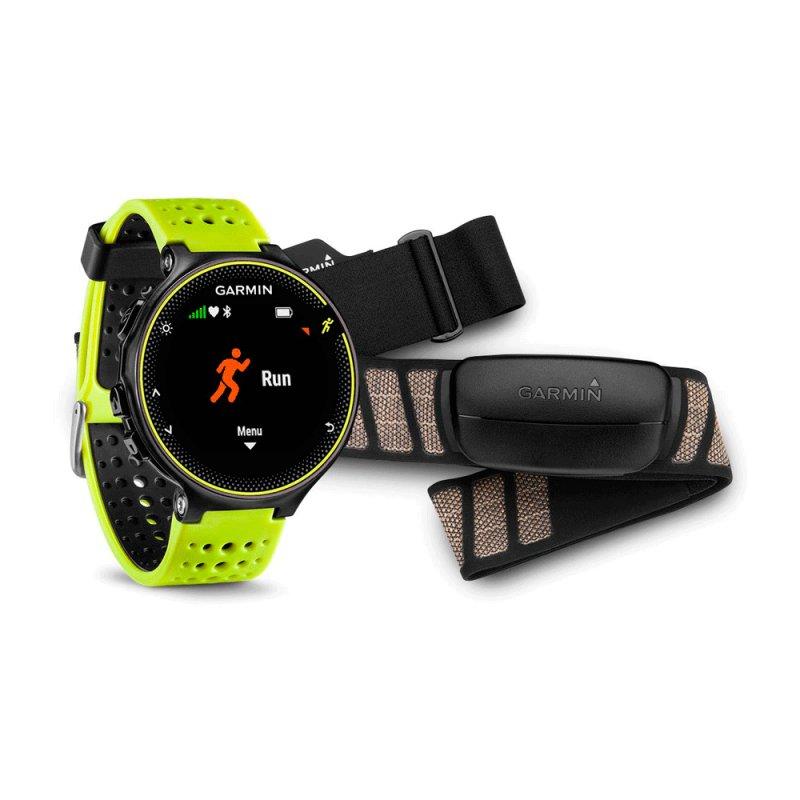 c44e0076206 Relógio com Monitor Cardíaco Forerunner 230 Garmin Amarelo com Cinta  HRM-Run e GPS