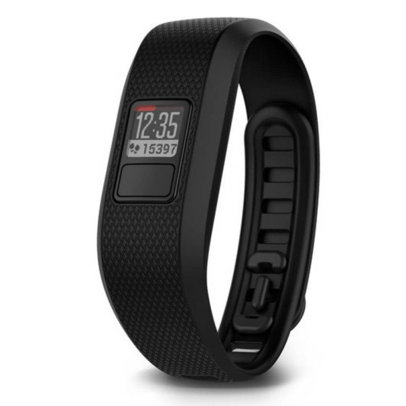 Relógio com Monitor Cardíaco Embutido Garmin Vivofit 3 Preto Regular