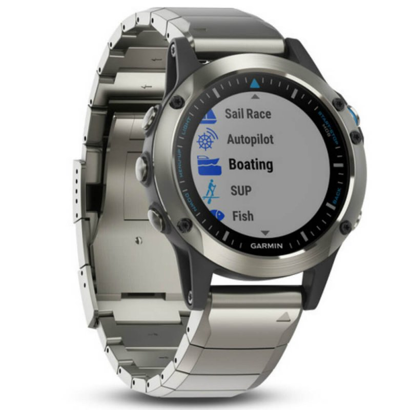 478b1af5e37 Relógio Multiesportivo Garmin Fenix 5 Quatix Safira Prata com Monitor  Cardíaco no Pulso