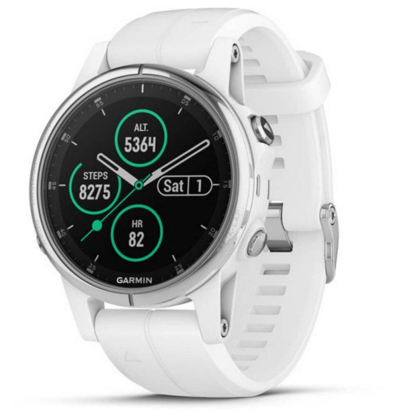 485db60ef3f Relógio Multiesportivo Garmin Fenix 5S Plus Safira Branco com Monitor  Cardíaco no Pulso - Compre Online